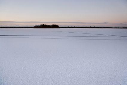 Paterswoldsemeer met ijs en sneeuw